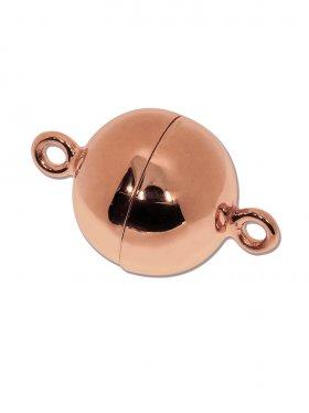 Magnetverschluss Kugel o. Rand ø 14, 925 rosévergoldet glänzend - VE 1 St.