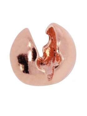 Klapp-Kugel ohne Öse, verschiedene Größen, Silber rosévergoldet, VE 10 St. - ø 5 mm