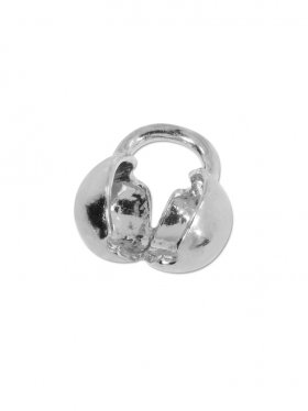 Klapp-Kugel mit Öse ø 3,5, 925 Silber rhodiniert