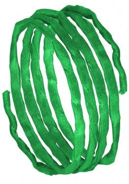 Seidenbänder, Grüntöne, L 1 m, VE 10 St. - apfelgrün (50)