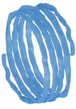 Seidenbänder, Blautöne, L 1 m, VE 10 St. - hellblau (43)