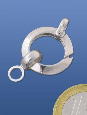 Federring rund spezial mit 2 Ösen, 925 Silber