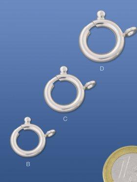 Federring groß, verschiedene Größen, 925 Silber - ø 16 mm (3 St.)