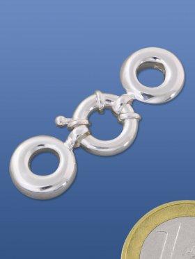 Federring ø 12 mm, für mehrreihige Ketten, 925 Silber