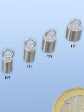Ringhülse mit Öse, verschiedene Größen, 925 Silber