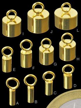 Ringhülsen, 925 vergoldet, versch. Größen - VE 6 Stück - ø 1,8 mm, Innen-ø 1