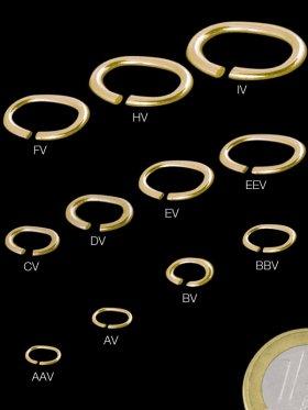 Biegeringe oval, ø 4 / 3 mm, 70 Stück