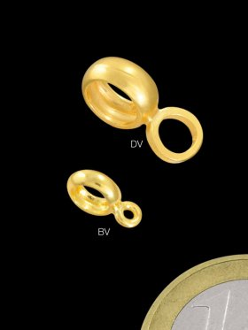 Ring geschlossen doppelt, 6 / 3 mm, 925 vergoldet
