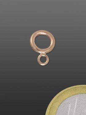 Doppelring, ø 8 / 3,5 mm, 925 rosévergoldet, glänzend