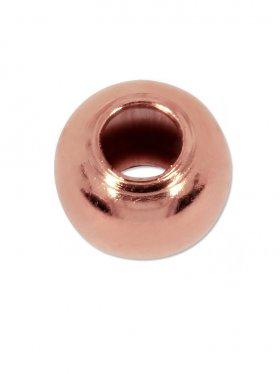 Kugel (Quetschkugel) ø 2,2 mm, Silber rosévergoldet, VE 50 St.