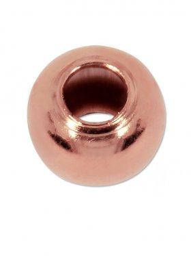 Kugel (Quetschkugel) ø 2,5 mm, Silber rosévergoldet, VE 50 St.