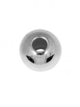Kugel (großes Loch), ø 6 mm, 925 Silber - VE 30 St.