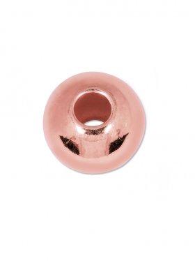 Kugel (großes Loch) ø 6 mm, Silber rosévergoldet, VE 20 St.