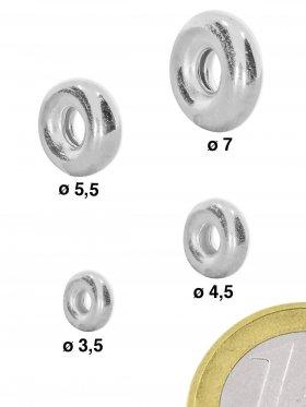 Hohlring, 925 Silber - ø 5,5 mm, VE 25 St.