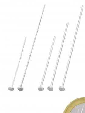 Kopfstift, ø 0,5 mm, verschiedene Längen, 925 Silber, VE 50 St.  - 30 mm