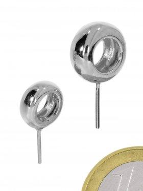Stiftöse Rad, 925 Silber rhodiniert, VE 5 St.