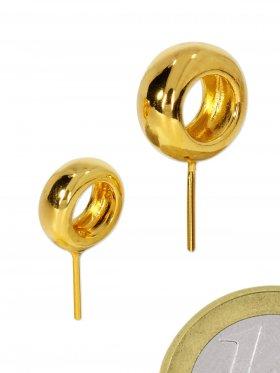 Stiftöse Rad, 925 Silber vergoldet, VE 2 St.
