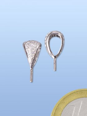 Stiftöse mit Zirkonia, 925 Silber