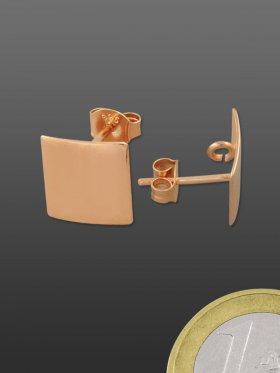 Ohrstecker mit Platte und Öse, 925 rosévergoldet