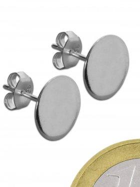 Ohrstecker mit Platte, ohne Stift, 925 Silber