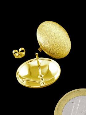 925 Silber vergoldet gebürstet