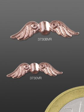 Engelsflügel, Element mit Loch, 925 rosévergoldet