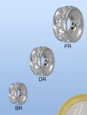 Disc konkav, Zirkoniasteine facettiert, verschiedene Größen erhältlich - ø 8 mm, VE 3 Stück