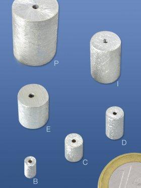 Zylinder gebürstet, 925 Silber