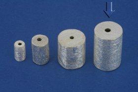 Zylinder, gebürstet, ø 10 / L 15 mm (2 St.)