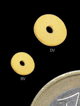 Scheibe flach, rund ø 4 mm, 925 vergoldet