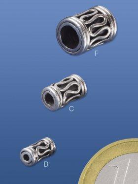 Zylinder mit Gravur, ø 4 / L 8 mm, VE 20 Stück