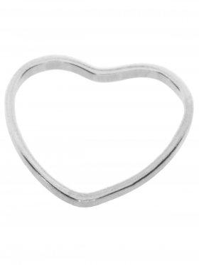 Herz Kontur, 10 mm, 925 Silber