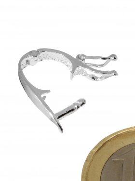 Clip für Zwischenteile mit Sicherheitsbügel, 925 Silber, VE 1 St.