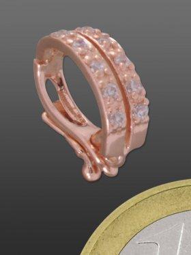 Clip für Zwischenteile mit Verzierung, 925 Silber