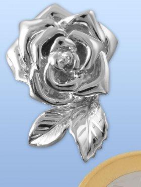 Wechselclip Rose magnetisch, rhod. - VE 1 St.