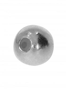 Stopper-Kugel mit Silikonfüllung (Stopper) ø 6 mm, 925 rhodiniert