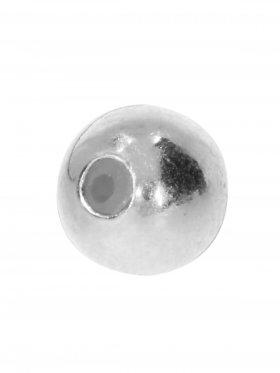 Stopper-Kugel mit Silikonfüllung (Stopper) ø 6 mm, 925 Silber-silbern