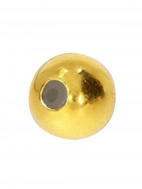Stopper-Kugel mit Silikonfüllung (Stopper) ø 6 mm, 925 vergoldet