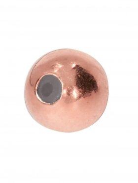 Stopper-Kugel mit Silikonfüllung (Stopper) ø 6 mm, 925 rosévergoldet