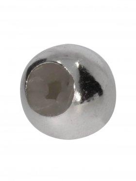 Stopper-Kugel mit Silikonfüllung (Stopper) ø 8 mm, 925 Silber-rhodiniert