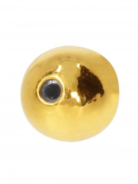 Stopper-Kugel mit Silikonfüllung (Stopper) ø 8 mm, 925 vergoldet