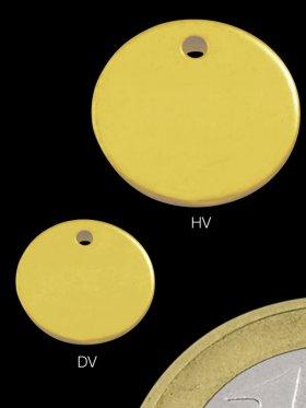 Silberplättchen rund ø 6,6 mm, ohne 925 Stempel, 925 vergoldet