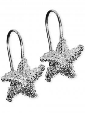 Ohrhänger Seestern mit Ring, 925 Silber rhodiniert