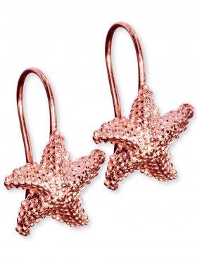 Ohrhänger Seestern mit Ring, 925 Silber rosévergoldet