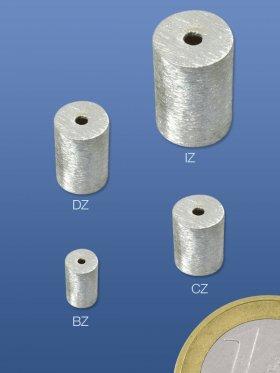 Superlight - Zylinder, ø 4 / L 7 mm, 925 Silber, gebürstet