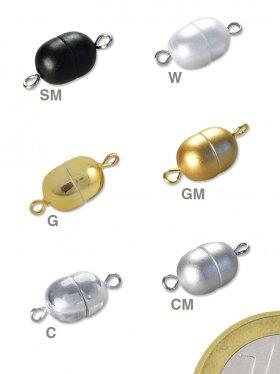 Magnetverschluss Oliven-Muggel, Kunststoff chrom, VE 1 St.