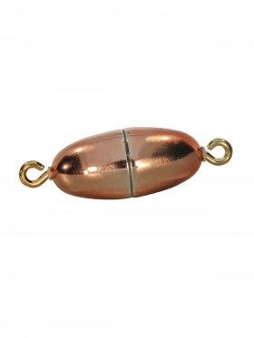 Magnetverschluss mit Öse, Olive mittel, Kunststoff glänzend, VE 5 St. - kupfer