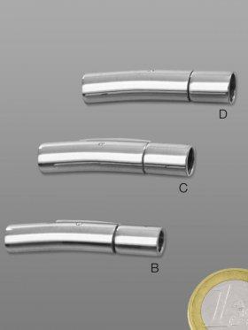Schnappverschluss 06-3 Edelstahl, für Bänder ø 3, 4, 5, VE 5 St. - für ø 3 mm Band