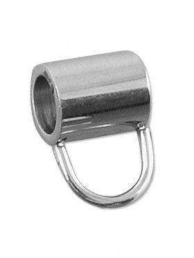 Rohr f. Charms, Edelstahl, für ø 4 mm Band
