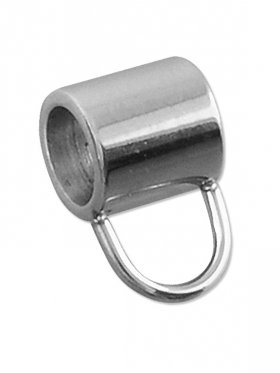 Rohr f. Charms, Edelstahl, für ø 5 mm Band